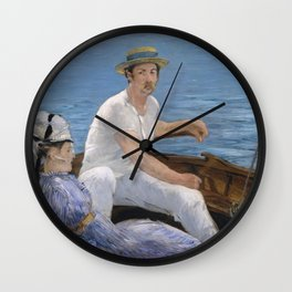 Boating by Edouard Manet Wall Clock