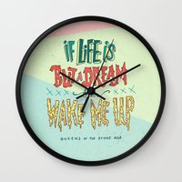 queens of the stone age Wall Clocks featuring Queens of the Stone Age by Josh LaFayette