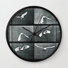 Time Lapse Motion Study Bird Monochrome Wall Clock