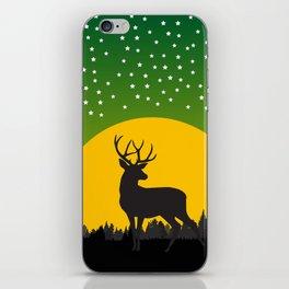 Deer Stars Moon iPhone Skin