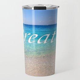 Breathe Cayman Relaxing Beach Waves Travel Mug