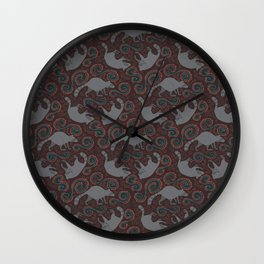 Raccoon Roundabout  Wall Clock