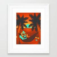 tiki Framed Art Prints featuring Tiki  by Shana Patry