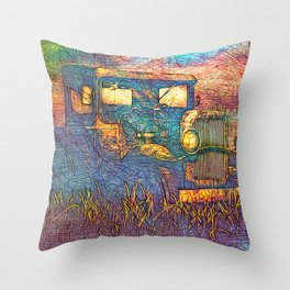 Moonshiners Pickup Truck Throw Pillow
