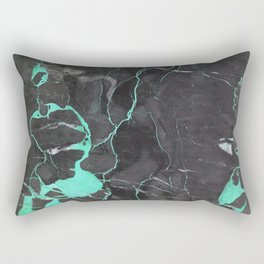 Grey and Blue Marble Rectangular Pillow