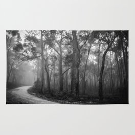 Misty Forest Path Rug