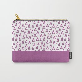 Triangles Purple Carry-All Pouch