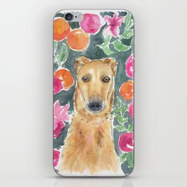 Whippet in the flowers iPhone Skin