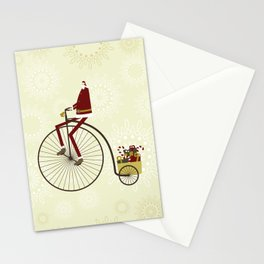 Santa and bike Stationery Cards