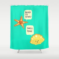 motivational Shower Curtains featuring Motivational Beach! by AnishaCreations