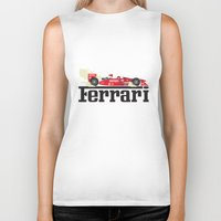 ferrari Biker Tanks featuring Ferrari F1 by Lewys Williams