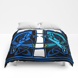 Celtic Peacocks Letter T Comforters