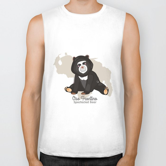 Oso Frontino/Spectacled Bear Biker Tank