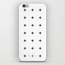 Black Plus on White /// www.pencilmeinstationery.com iPhone Skin