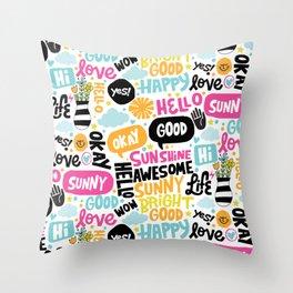 Sunshine & happiness Throw Pillow