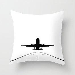Takeoff Throw Pillow