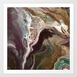 Autumn Agate Art Print
