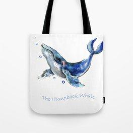 Whale Artowrk, Humpback Whale Tote Bag