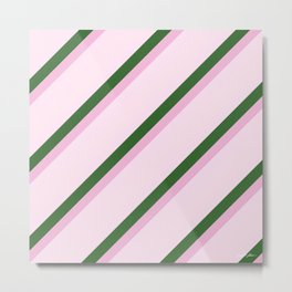 Pink Roses in Anzures 2 Stripes 4D Metal Print
