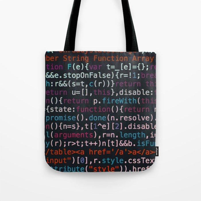 Computer Science Code Tote Bag By Nocolordesigns