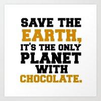 SAVE THE EARTH  Art Print