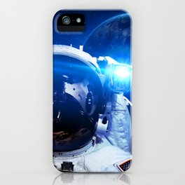Astronaut in orbit #3 iPhone Case