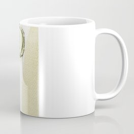 Embroidered Flowers Green Coffee Mug
