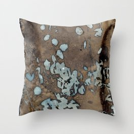 Somber Raindrops Throw Pillow