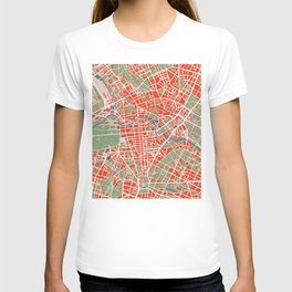 Berlin city map classic T-shirt