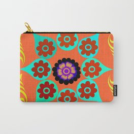 Talavera Tile Orange Carry-All Pouch