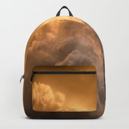 Still Climbing - Abstract Storm Clouds Rising in Atmosphere on Stormy Evening in Kansas Backpack