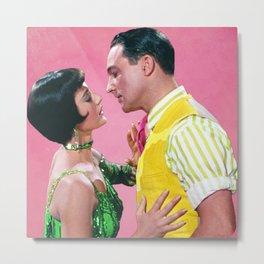 Gene Kelly & Cyd Charisse - Pink - Singin' in the Rain Metal Print
