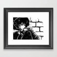 Spike Lino Block Framed Art Print
