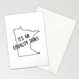 Minnesota Equality Stationery Cards