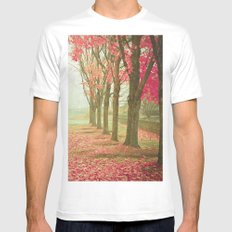 Scarlet Autumn White Mens Fitted Tee MEDIUM