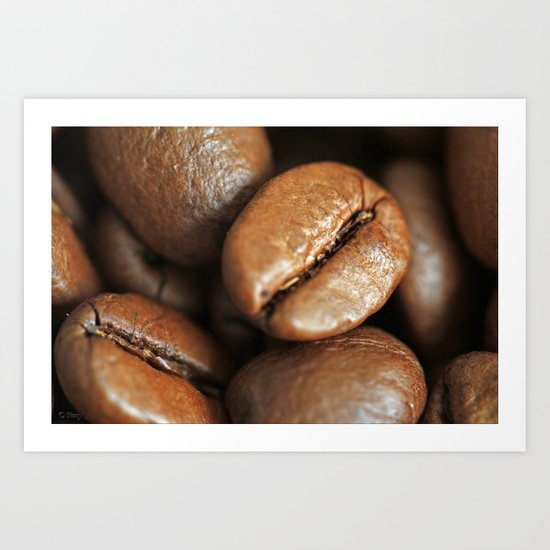 Cracked Beans Art Print