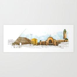 Helsinki Central Railway Station Art Print