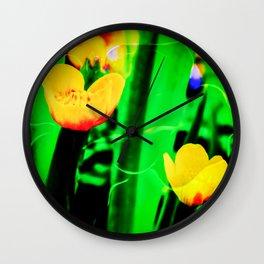 Flowers magic marsh Marigold Wall Clock