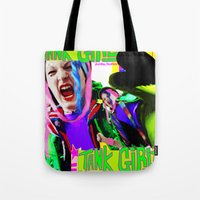 tank girl Tote Bags featuring Tank Girl Lucy by sorshag