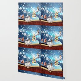 Christmas Magic Book with fairy Wallpaper