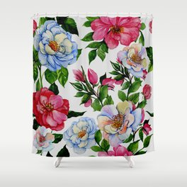 Vintage Floral Pattern No. 10 Shower Curtain