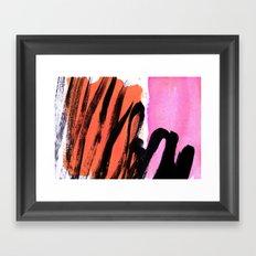 strokes on sherbet Framed Art Print