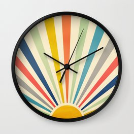 Sun Retro Art III Wall Clock