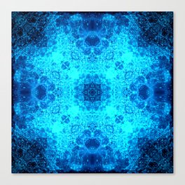 Abstract Blue Lacy Waves SB77 Canvas Print
