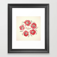 Poppy Passion: I See Passion In Your Work Framed Art Print