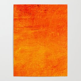 Orange Sunset Textured Acrylic Painting Poster