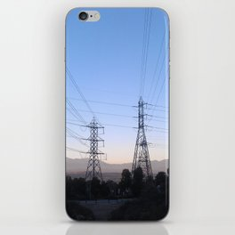 Electric Sky Line iPhone Skin