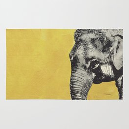 Elephant on yellow Rug