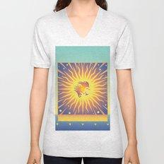 Golden Rays Unisex V-Neck