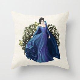 Enchanting Blue Throw Pillow